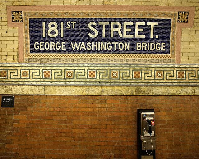 181 Street IRT Subway Station, Washington Heights, New York City by jag9889, via Flickr