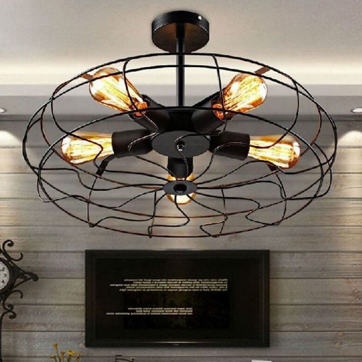 antique ceiling fans uk vintage ebay industrial bulbs fan shape pendant light retro lamp lighting