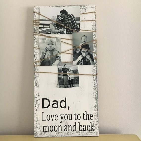 This beautiful sign is perfect for Dad, whether it be a wedding, fathers day, birthday or just because your dad will love this! This piece contains no vinyl, everything is hand painted. The wood is high-quality pine. This can be hung on the wall but we do not offer that service or hardware. Colors and quote can be changed just message first and ask about how we can customize this piece for you. This piece is patterned after a shabby chic look. The sanding and roughing up is lightly done to…