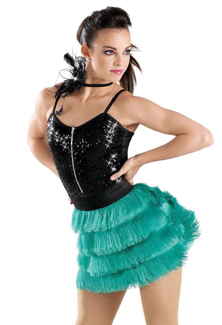 junior jazz Zip Front Sequin Fringe Dress -Weissman ... Genie Girl Costume