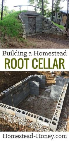 I so want to do this. Building a Homestead Root Cellar eBook - A step-by-step guide to building your own homestead root cellar. If you are a DIY homesteader looking for a time-saving and practical solution to your food preservation needs, or if self-sufficiency is your goal,