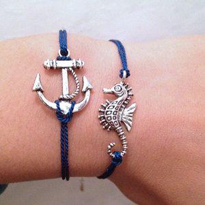 anchor: Sea Horses, Anchors Bracelets, Seahorses Bracelets, Anchors I Wantt, Art Anchors, Nautical Bracelets, Diy Bracelets, Charms Bracelets, Anchors Seahorses