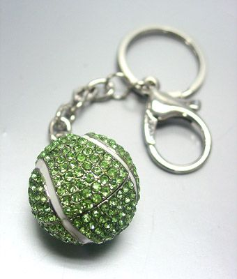 Tennis & bling go together! Use as a keychain or clip to your bag.