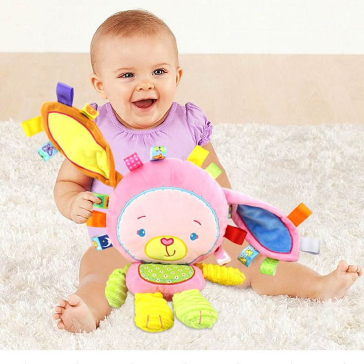 Mono feliz Bebé Juguetes Infantiles Traqueteos Animales Muñecas Suaves Juguetes de Peluche de Conejo Elefante León 8 estilos Juguetes Infantiles Al Por Mayor