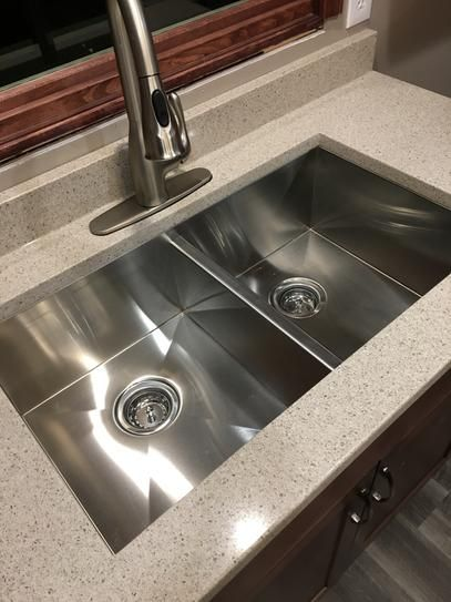 KOHLER Vault Drop-In/Undermount Stainless Steel 33 in. 4-Hole Double Basin Kitchen Sink K-3820-4-NA at The Home Depot - Mobile