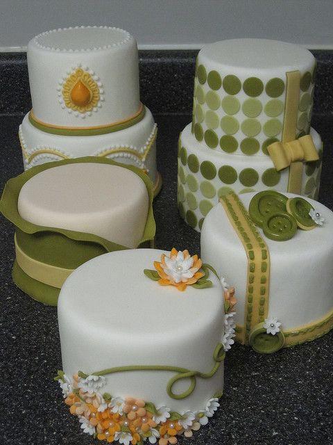 Green and Orange Mini Cakes