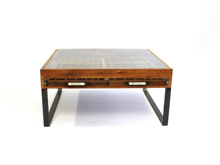 Double Printer's Tray Table