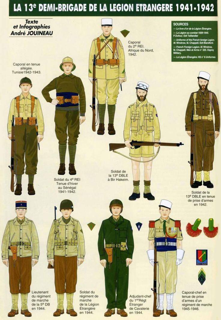 Военнослужащие 13-й полубригады французского Иностранного легиона
