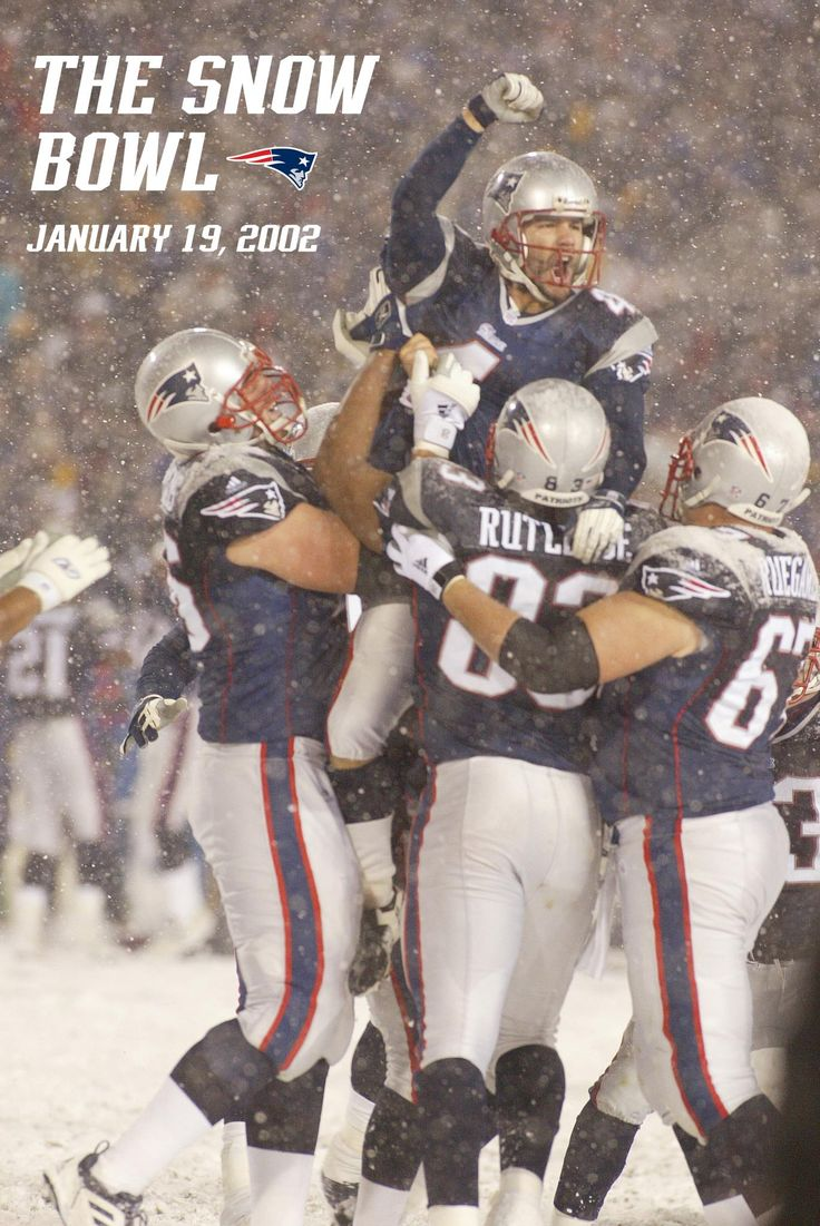 The Snow Bowl (aka the Tuck Rule game). Patriots defeat the Raiders in the driving snow, 16-13 in overtime, in the final game at Foxboro Stadium to advance to the AFC Championship.