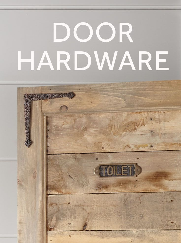 Add some rustic flair to your doors with decorative hinges and strap hinges. Barn door hardware is a simple way to bring the farmhouse style to your home.