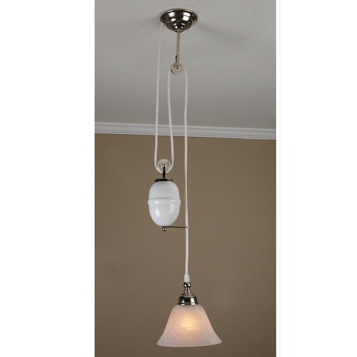 adjustable pulley pendant. Black Bedroom Furniture Sets. Home Design Ideas