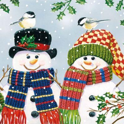 3645 Servilleta decorada Navidad