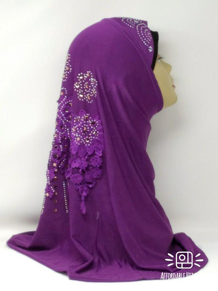 Amour Al Amira Hijab $24.99 Amour Al Amira Hijab with beautiful Lace Applique And Rhinestone Purple 1pchttps://store13211292.ecwid.com/#!/Amour-Al-Amira-Hijab/p/101700197