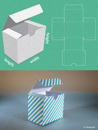 Completely custom sized template for a Gift Box