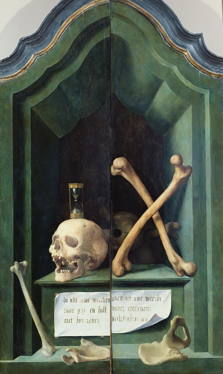 Anonymous Flemish artist - Vanitas (outer wings of the altar triptych). Around 1540-60