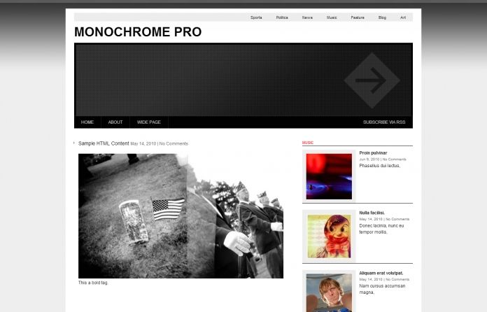 Monochrome Pro is a magazine-style #free theme for #WordPress - perfect for a news or #magazine website.