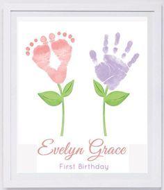 Baby Fußabdruck Kunst Forever Drucke übergeben von MyForeverPrints