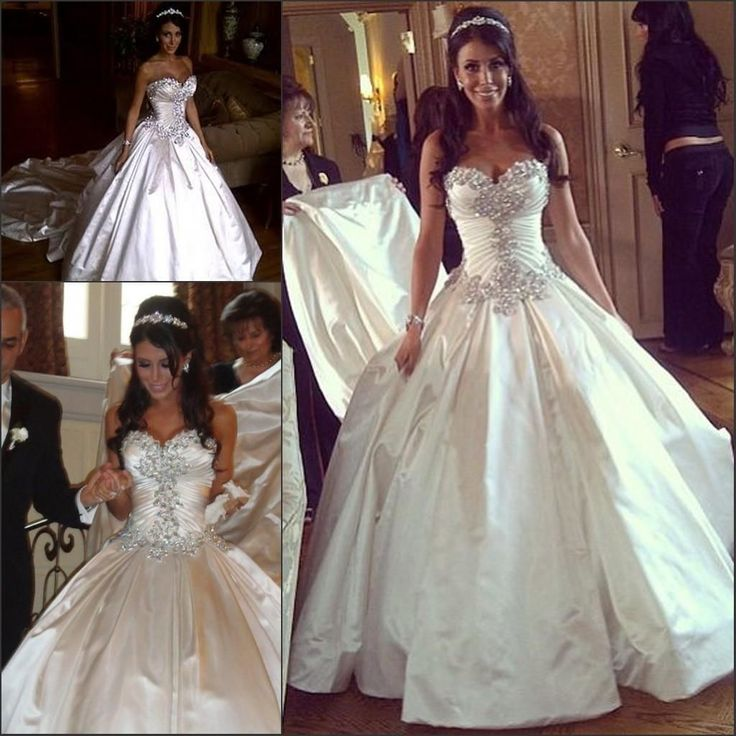 Classic Sparkly Crystal Pnina Tornai Wedding Dresses Sweetheart Ball Gown Backless Beaded Chapel Train Plus Size Wedding Gown Cheap Black And White Wedding Dresses Cheap Cocktail Dresses From Wanyuweddingdress, $165.83| Dhgate.Com
