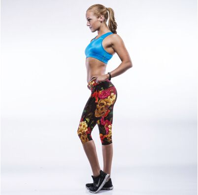 2016 New Arrival Running Pant Women Stripe Designer Bodybuilding Fitness Compression Elastic Sports Pants Women's Running Tights