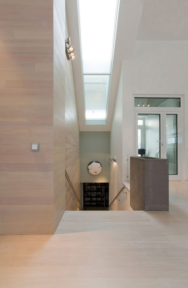 Angled frosted roof over stairway to increase daylighting. Inspiring Architecture and Tasteful Interior Decorations: House 02