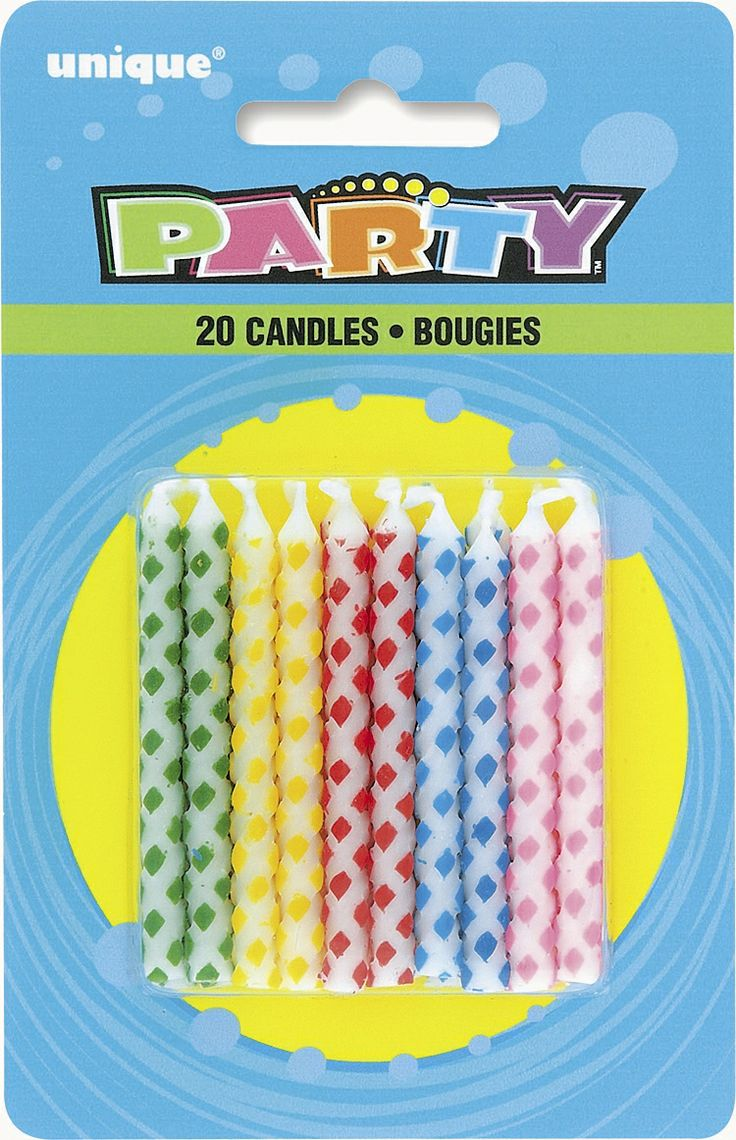 Assorted Colour Diamond Dot Birthday Candles