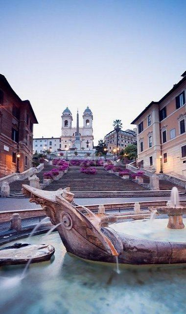 The Spanish Steps, Rome, Italy (by matteocolombo.com)