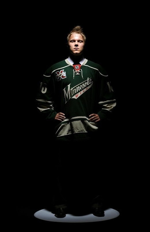 05/23/12: Gorgeous, clad in green - From Suomi, signed with Minny - Can't wait to watch you! (Finnish star Mikael Granlund signs 3 year contract with the @Minnesota Wild! Welcome!)