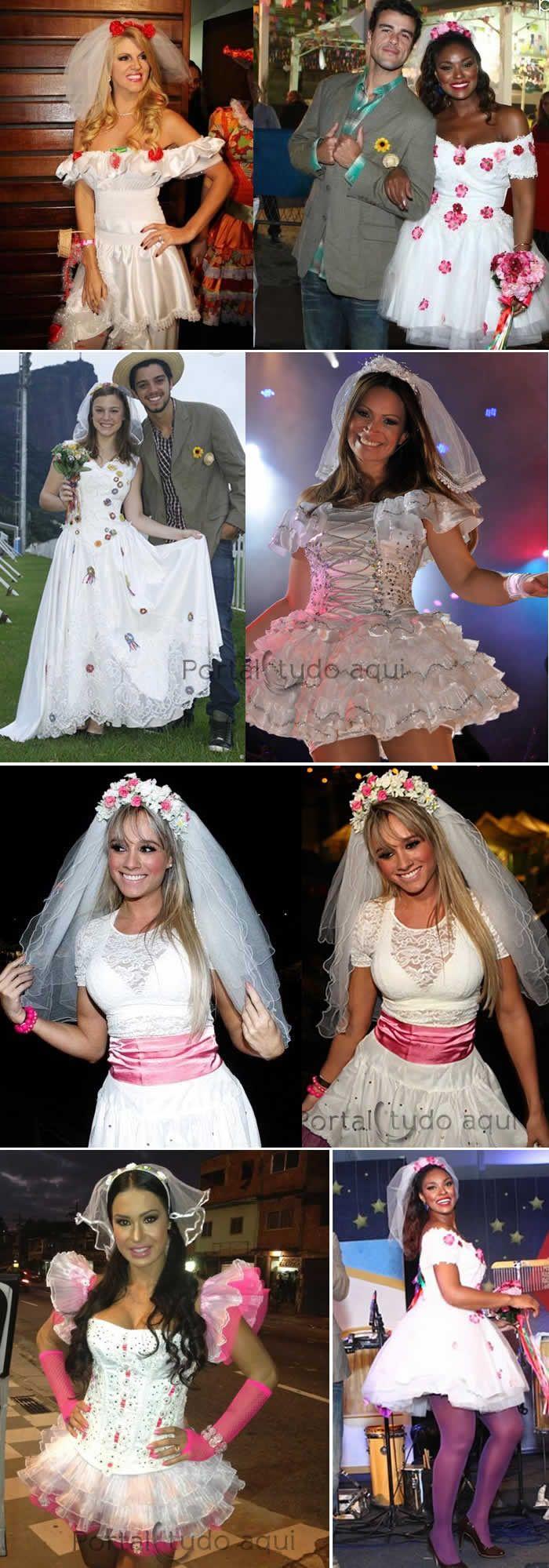 Veja nesta matéria dicas de fotos com ideias de trajes para festa junina inspiradas nas roupas caipira das famosas, confira!
