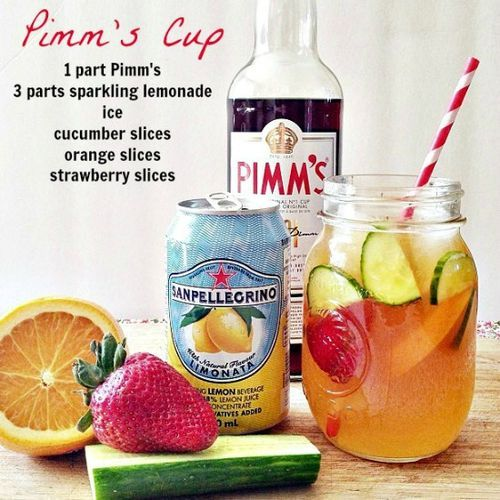 Fun grown up drinks for summer entertaining. Pimm's I miss you!