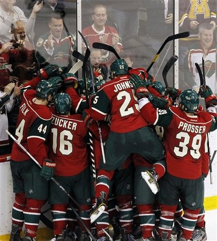 After Mikko Koivu's winning goal 15 seconds into overtime