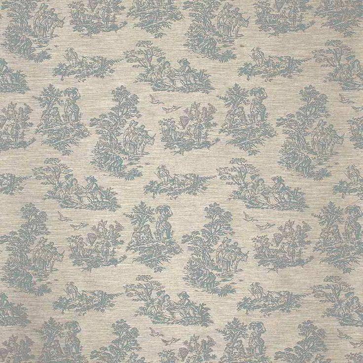 Warwick Fabrics : TOINETTE, Colour SEAFOAM