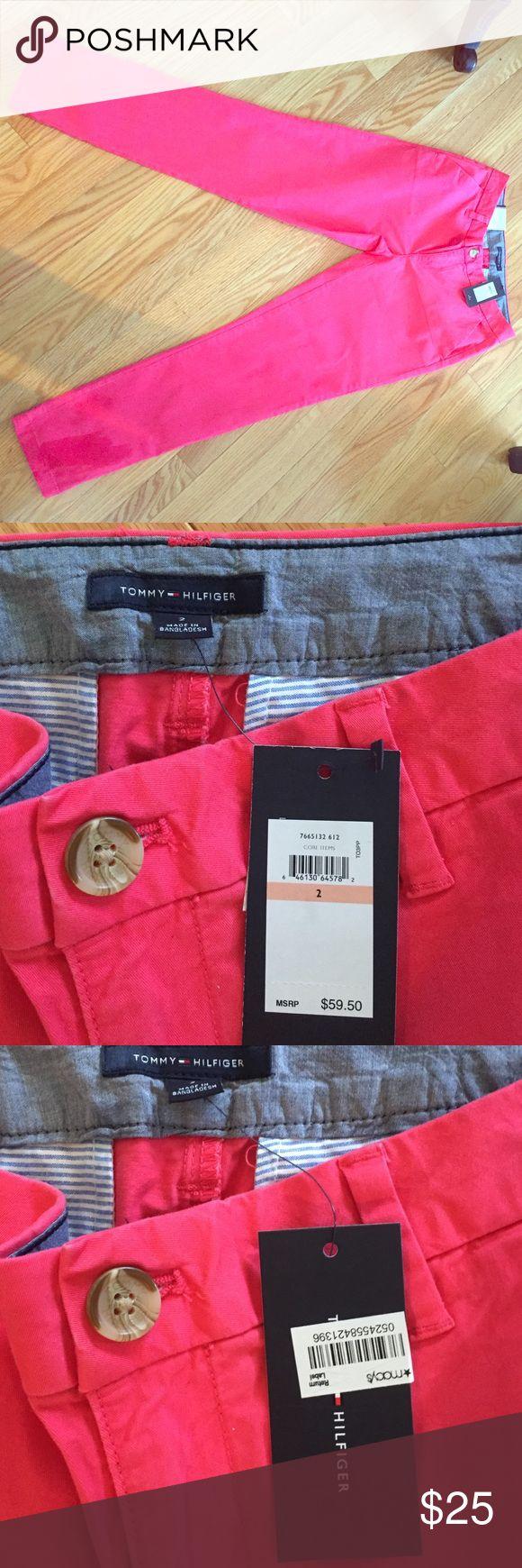 Tommy Hilfiger Ladies Chinos Hampton Style. Size 2. Never worn. 97% cotton. Tommy Hilfiger Pants Straight Leg