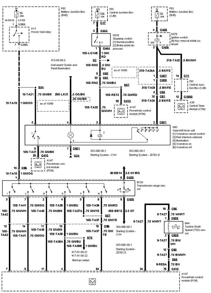 ignition control module ledningsdiagram