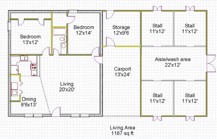 House Barn Combo Plans Numberedtype