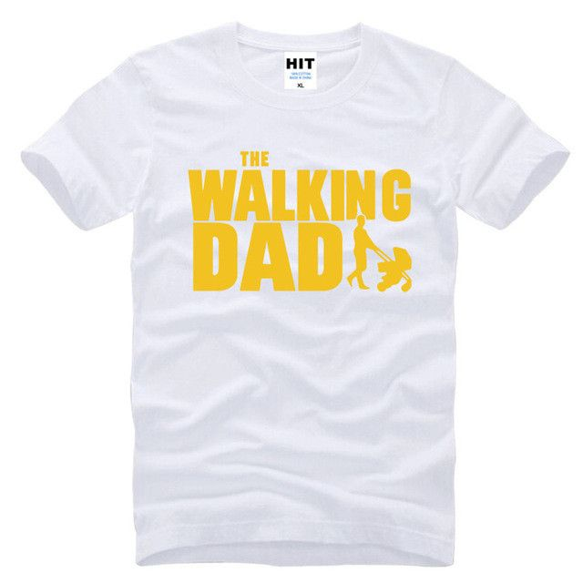 The Walking Dad Fathers Day Gift Men's Funny T-Shirt T Shirt Men 2016 New Short Sleeve Cotton Novelty Top Tee Camisetas Hombre