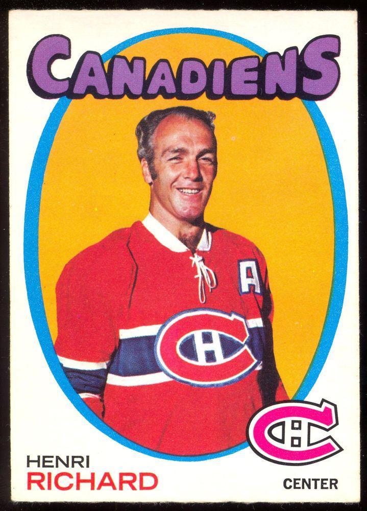 1971 72 Topps 120 HENRI RICHARD NM MONTREAL CANADIENS HOF HOCKEY CARD #MontrealCanadiens