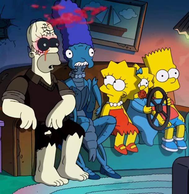 Le Couch Gag des Simpson réalisé par Guillermo del Toro