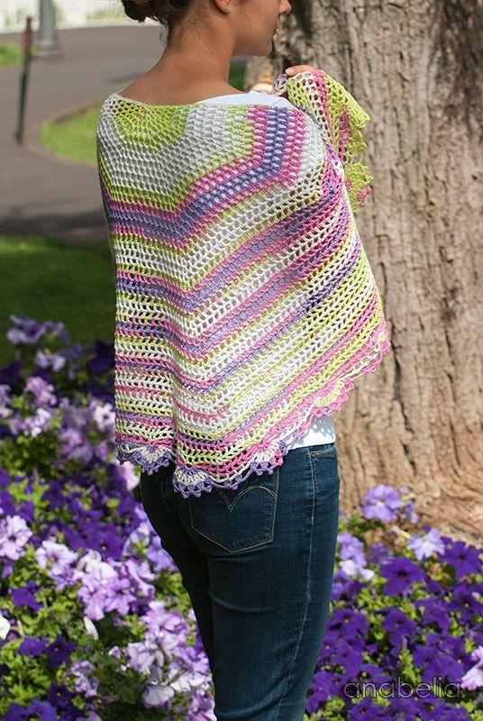 Crochet Pattern For Summer Shawl : Light summer crochet shawl by Anabelia Craft Design # ...
