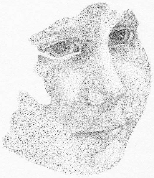 stippling: School Ks4 Ks5 Inspiration, Art Pencil Colored, Pointillism Art Projects, Dots Drawing, Stipple Drawings, Shading Drawings, Ink Drawings, Drawing Pencil