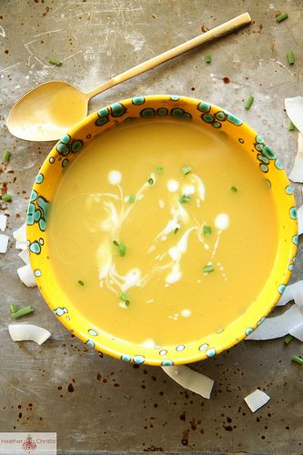 Thai Coconut Butternut Squash Soup by Heather Christo, via Flickr