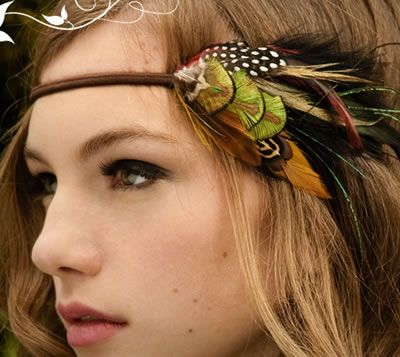 Feather Headbands; No Tut but Easy DIY, tons of inspiration on this site