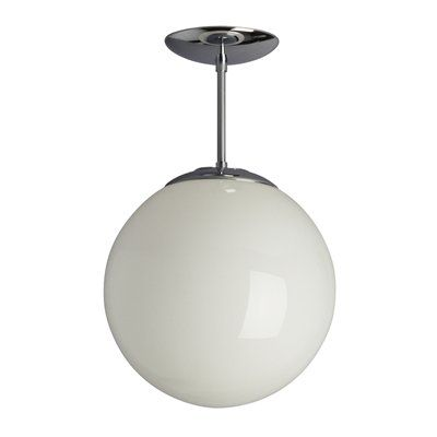 Galaxy Lighting 61010 CHR  Semi Flush Ceiling Light, Polished Chrome $28