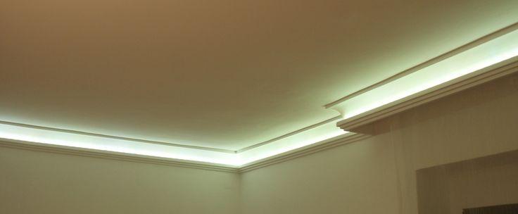 sztukateria z podświetleniem LED