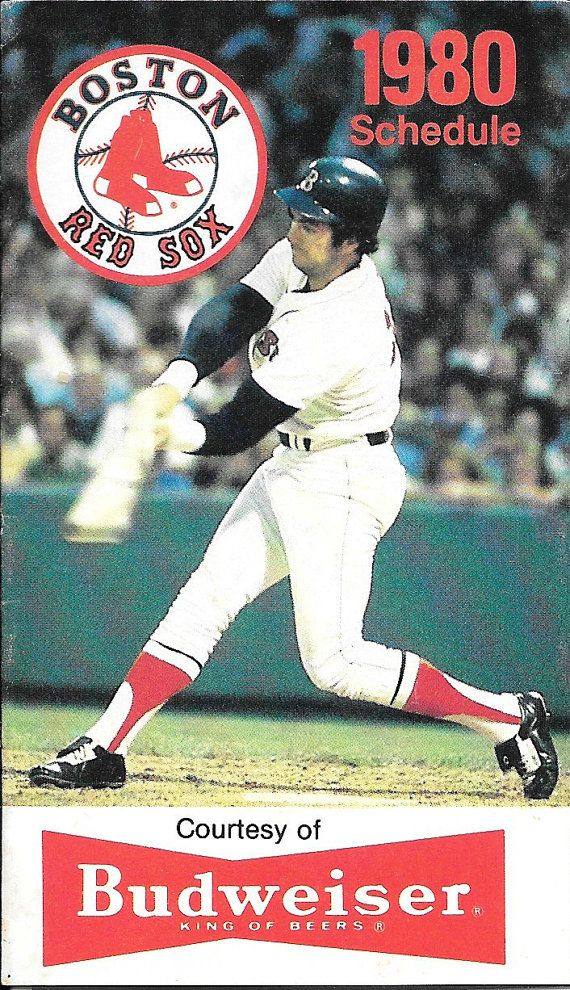 1980 Boston Red Sox Pocket Schedule by mandtsimplyvintage on Etsy, $5.00