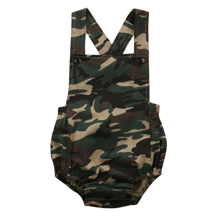 Camouflage Newborn Baby Romper Clothes 2017 New Summer Sleeveless Infant Bebes Boys Girls Fashion Toddler Kids Jumpsuit Sunsuit