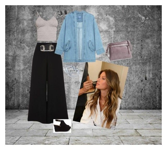 """""""Every day look"""" by wisacb on Polyvore featuring GUESS by Marciano, River Island, BasicGrey, Steve J & Yoni P, HOBO and B-Low the Belt"""