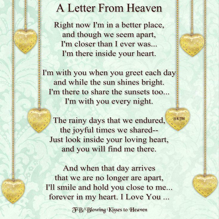 Best 25 Letter from heaven ideas on Pinterest