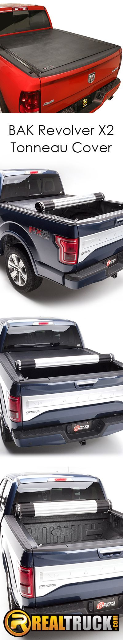 Whether you use your truck for work or for leisure, the BAK Revolver X2 tonneau cover has you covered. Being a hard cover, yet still having the ability to roll to your cab gives full bed access and is just what you need. BAK pulled out all the bells and whistles on this truck bed cover as it is constructed from high-quality materials and built for security.