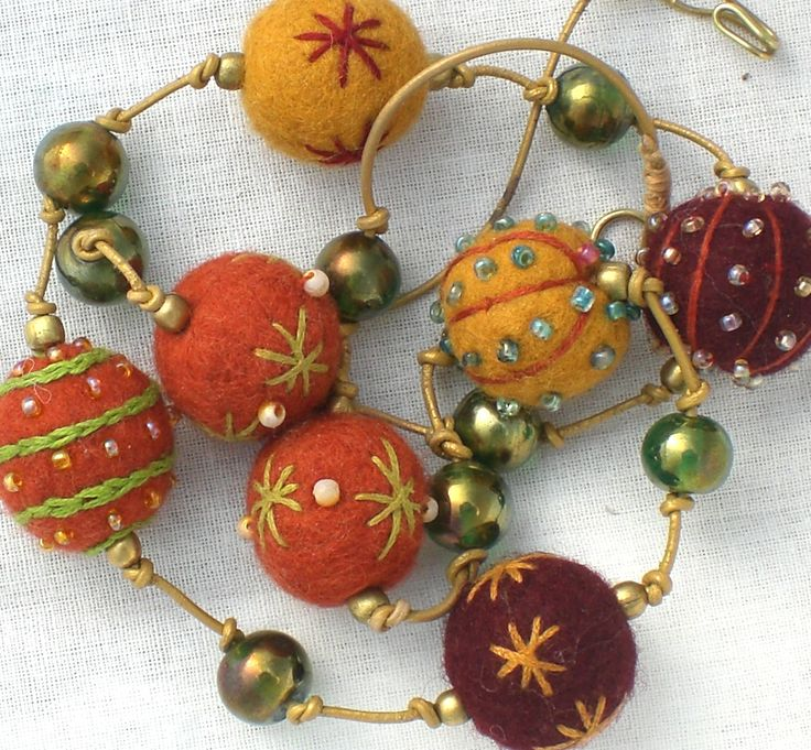 Creative Beads: 17 Best Images About Embroidered Felt Beads On Pinterest