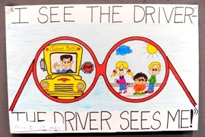 """It's School Bus Safety Week! Schools around the country will be celebrating this week with the theme: """"I see the driver – the driver sees me."""""""